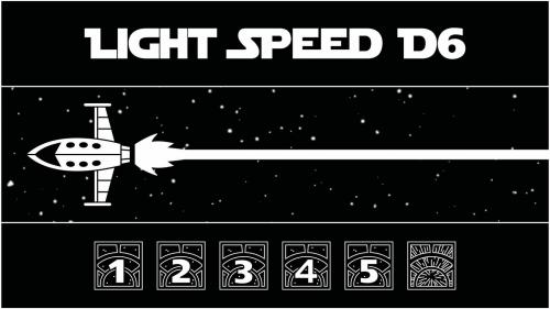 Light Speed Dice - d6s that roll at the speed of light!