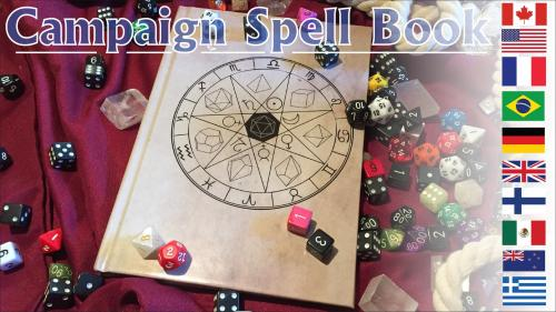 Campaign Spell Book and Campagin Notebook