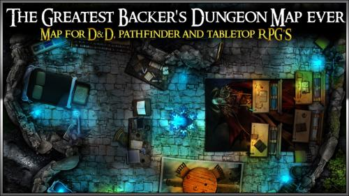 RPG The Greatest Dungeon Map ever,size =number of backers