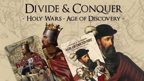 Divide & Conquer: Holy Wars & Age of Discovery Card Games