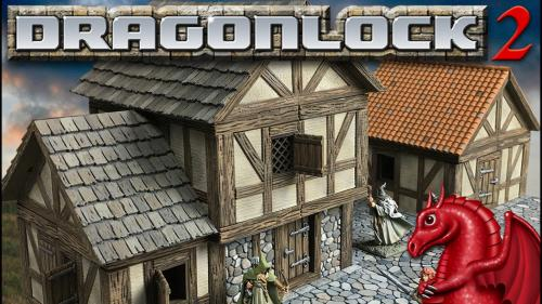 DRAGONLOCK 2: Fantasy Village Terrain for 3D Printers