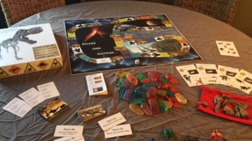 Roars and Rattles An educational dinosaur board game