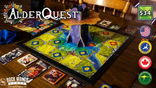 AlderQuest - A Wintry Mix of Area Control and Match-3