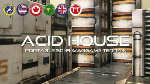 ACID HOUSE TERRAIN: Portable sci-fi wargame terrain