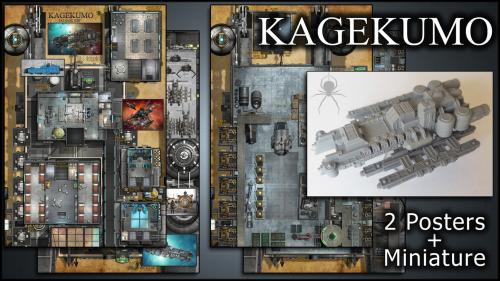 Kagekumo: Starship Maps & Miniature