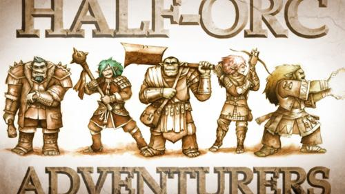 Stonehaven Miniatures: Half-Orc Adventurers