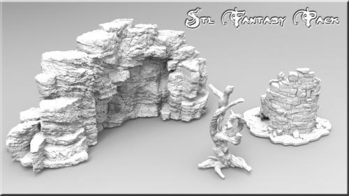 3d Printable Files STL for Fantasy Scenery