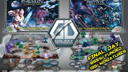 Galaxy Defenders - The Earth Strikes Back! boardgame