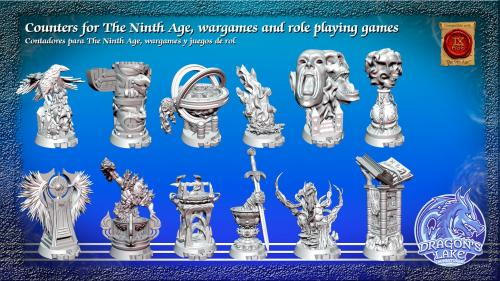 Counters for The Ninth Age, wargames and role playing games