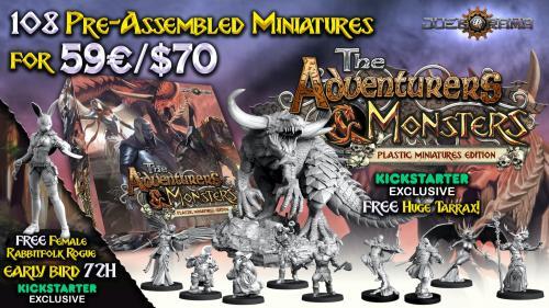 The Adventurers & Monsters plastic miniatures edition