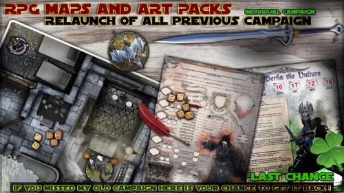 RPG Maps and art-packs Relaunch of individual campaign