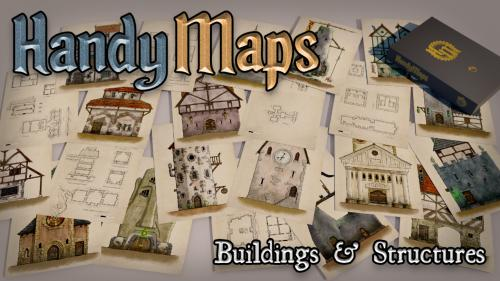 HandyMaps Buildings & Structures - A5 Card Handouts for RPGs