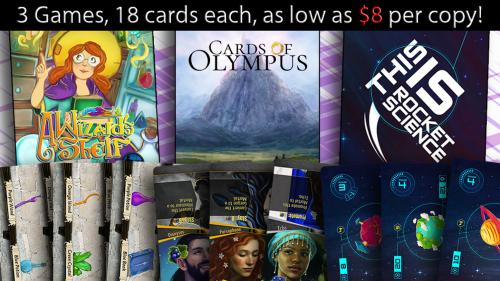 3 New Pocket-Size Games, 18 cards Each! FLOAT Series Wave 3!