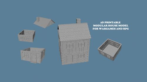 3D PRINTABLE STL OBJ BUILDINGS FOR WARGAMES AND RPG