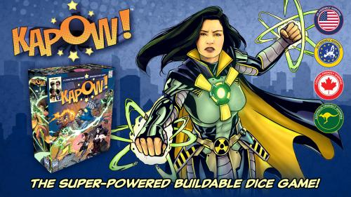 KAPOW! The fast & furious super-powered buildable dice game!