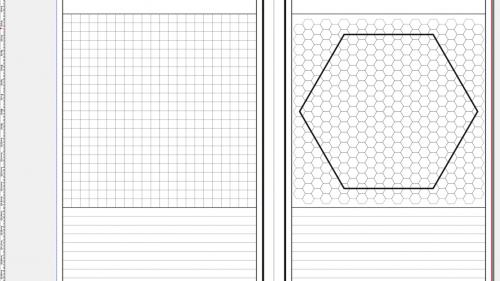A5 Gamers  Notebook Grid and Hex Version