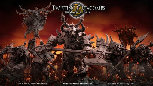Twisting Catacombs . The Minotaur Horde