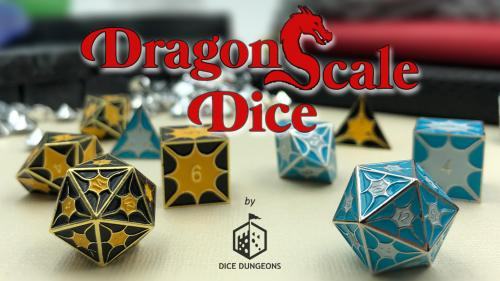 Dragon Scale Dice - Metal Dice Sets for Tabletop RPG Gaming