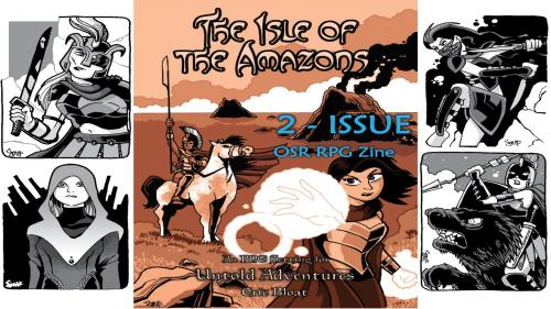 The Isle of The Amazons - RPG Zine for #ZineQuest