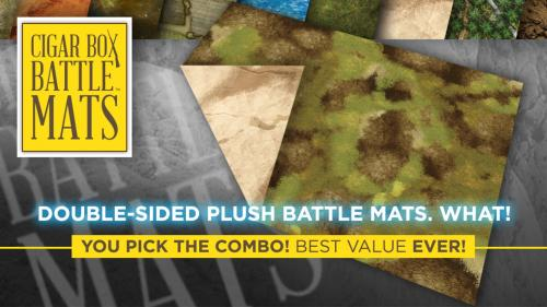 Double-Sided PLUSH Terrain Mats by Cigar Box Battle Mats