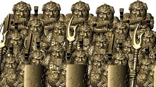 Dwarfs! STL files for a dwarfen army or adventure party!