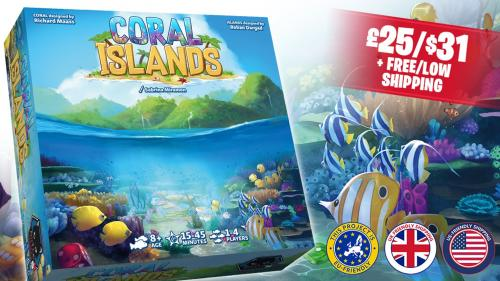 Coral Islands : 2 interactive dice-stacking games in 1 box!