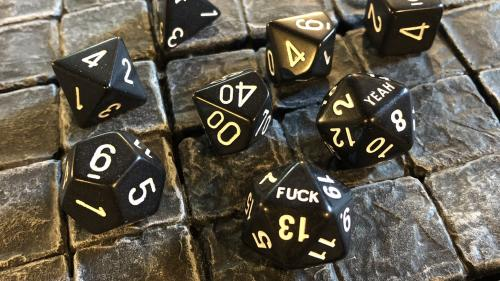 Fuck Yeah D20 Dice Sets