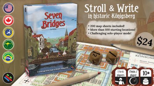 Seven Bridges - A Stroll & Write Board Game