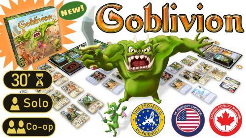 Goblivion - A Solo/Co-Op Castle Siege Card Game
