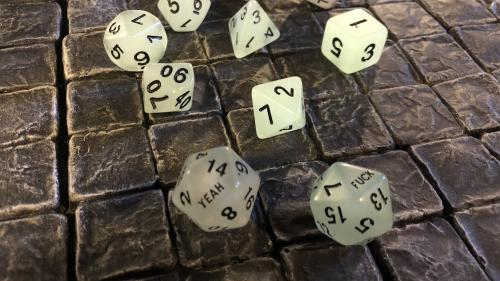 Fuck Yeah D20 Dice Sets - Glow-in-the-Dark