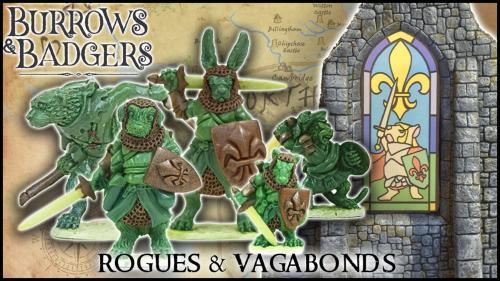 Burrows & Badgers: Rogues & Vagabonds - Anthro miniatures