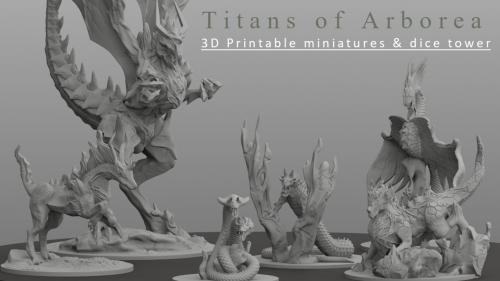 3D Printable miniatures for tabletop and RPG games
