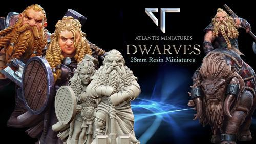 Atlantis Miniatures: 28mm Dwarf Miniatures