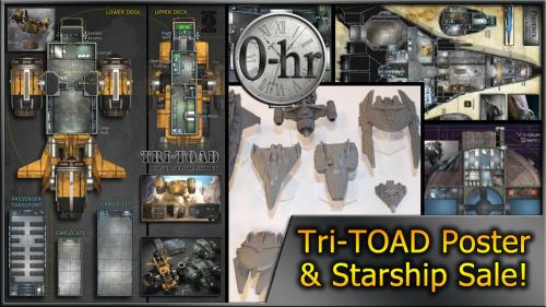 0-hr: Tri-TOAD Poster & Starship Sale!