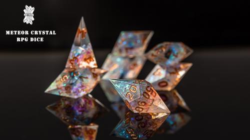 Meteor crystal RPG game dice/resin dice !