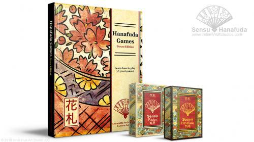 Sensu Hanafuda & Poker Playing Cards and Hanafuda Rulebook