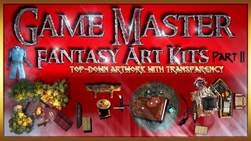 Game Master s fantasy art Kits top down objects