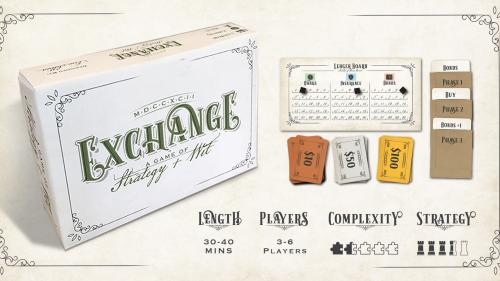 Exchange: A stock trading game of strategy and wit