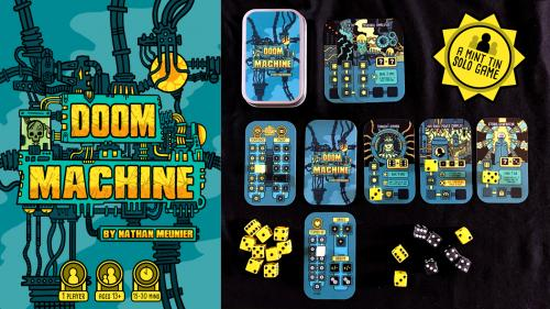 DOOM MACHINE: A Mint Tin Card + Dice SOLO Game