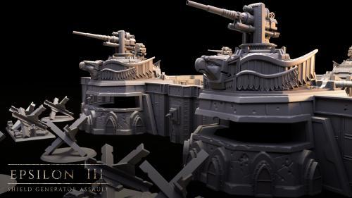 Epsilon III: Shield Generator Assault- 3D Printable Scenery