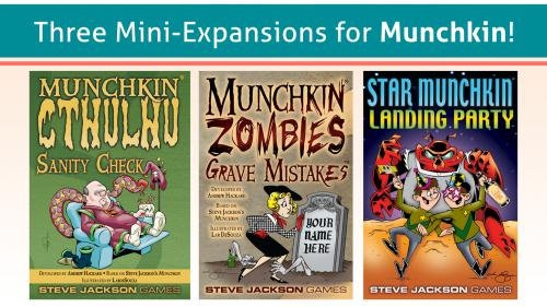 Three Mini-Expansions for Munchkin!