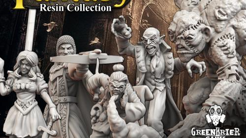 Fantasy Resin Custom Miniatures Collection