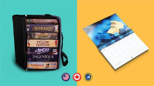 Board Game Bag & Board Game Calendar
