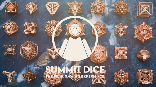 Summit Dice Collection: 3D Printed Cast Metal Dice