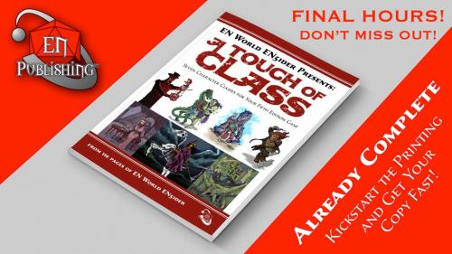 A Touch of Class: 7 New Classes for 5th Edition