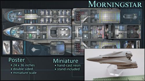 Morningstar: Starship Map Poster & Miniature