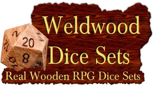 Wealdwood Dice Sets: Hand Crafted Dice From Hardwood Lumber