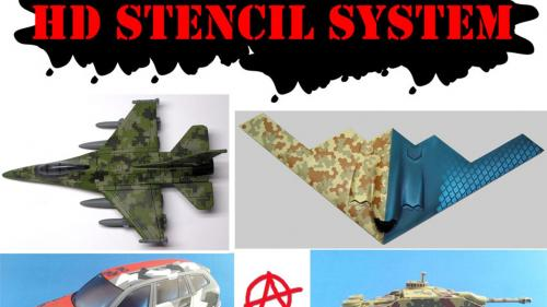 Anarchy Models -  HD Stencil System - for Camo and Detailing