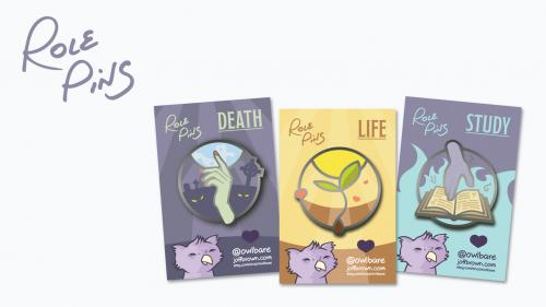 Role Pins: Enamel pins to celebrate your TTRPG characters