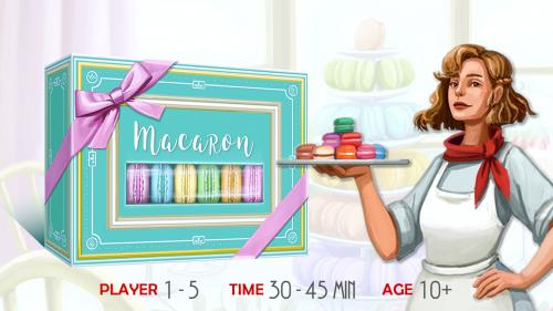 Macaron - A game of patisserie with novel tastes